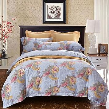 lelva elegant french rural bedding chic floral print girls duvet cover set vintage wedding bed set