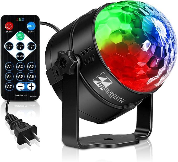 missyeemini luces de bola de discoteca con mando a distancia ...