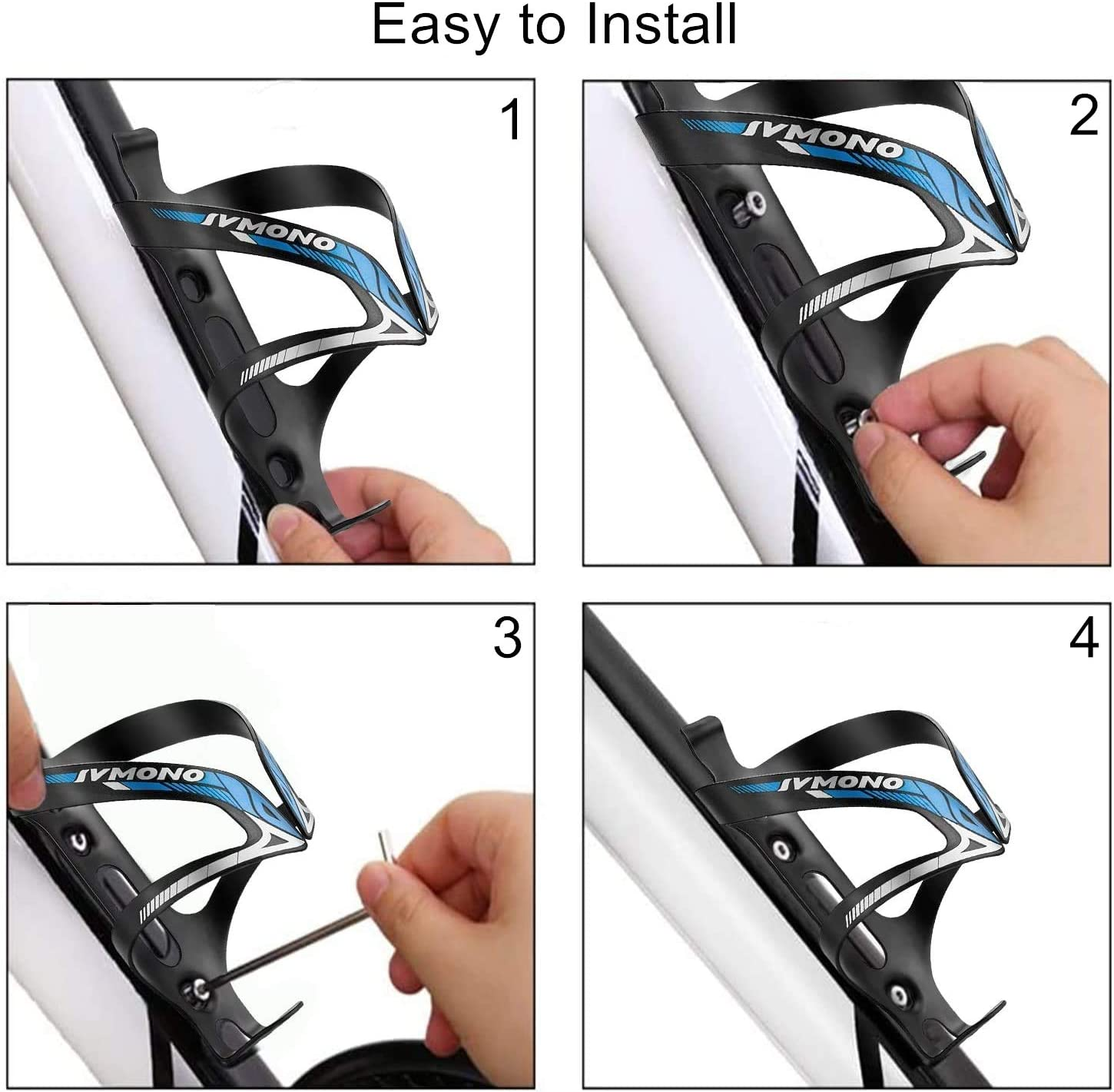 Quick and Easy to Install Great for Road Ultra Lightweight Aluminium Alloy Bicycle Water Bottle Cage Bike Bottle Holder Mountain and Kids Bikes No Lost Bottles