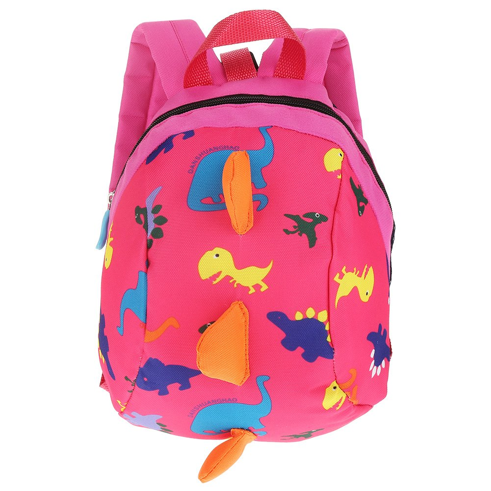 Baby Walking Safety Backpack, Kids Toddlers Cute 3D Dinosaur Baby Safety Anti-lost Zoo School bag with Safety Leash (Dark Blue) Zerodis