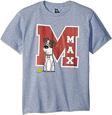 Secret Life Of Pets La Vida Secreta de Mascotas película M es para MAX Perro Heather Gris Juventud Camiseta