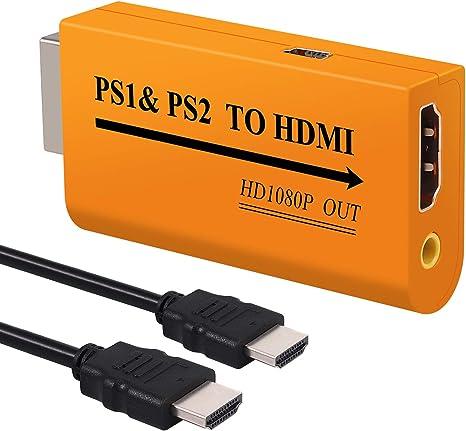 Adaptador PS1 y PS2 a HDMI 1080P Convertidor de Playstation 1 y 2 a HDMI con