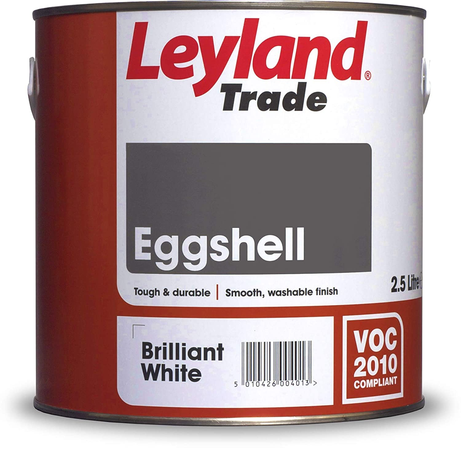 Leyland Trade 264575 Eggshell, Brilliant White, 2.5 PPG