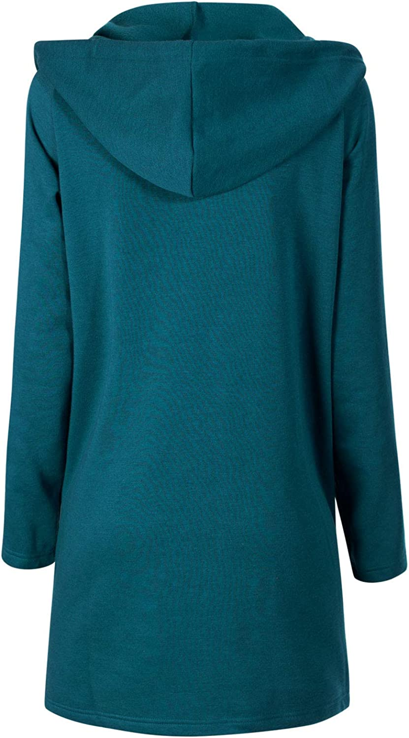 Design by Olivia Womens Casual Loose Fit Long Zip Up Pullover Hoodie Tunic Sweatshirt Jacket S-3X