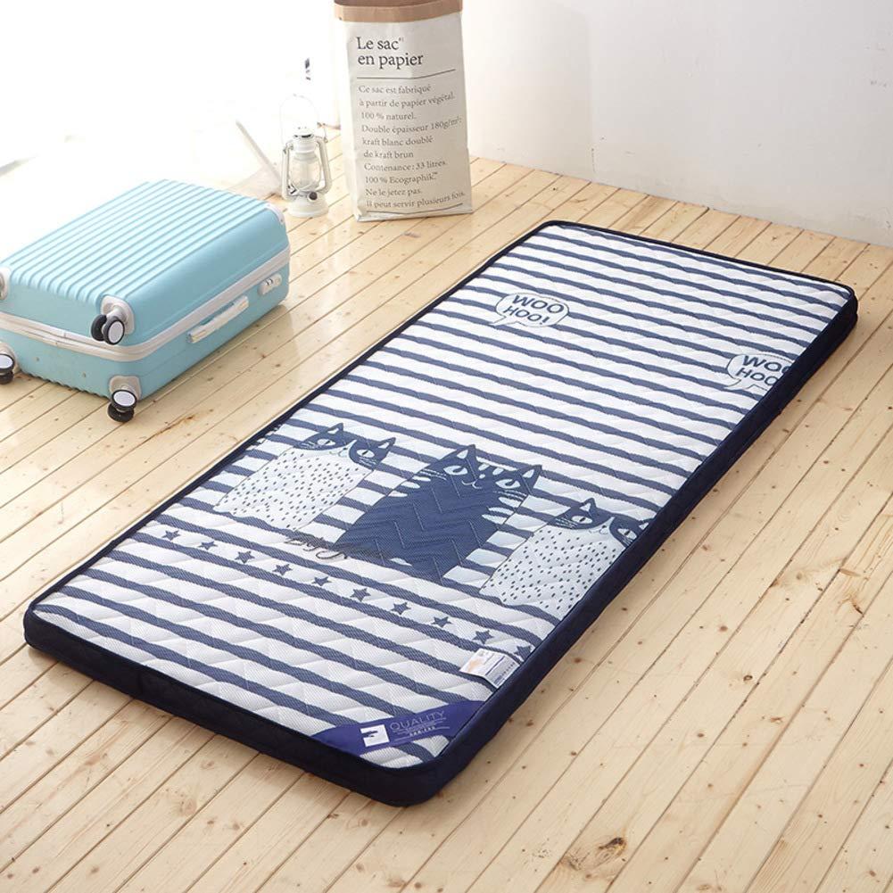 N 120x200cm(47x79inch) Thickened 6cm Student Mattress,Folding Tatami Mattress,Folding Floor Sleeping pad,Foldable,for Yoga Camping-B 180x200cm(71x79inch)