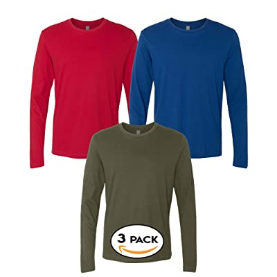 100/% Combed Cotton Long sleeve Full Sleeve T Shirts 5 Pack