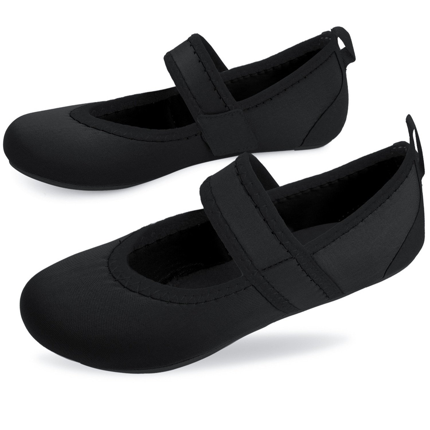 Centipede Demon Water Shoes Flexible Flats for Womens Traveling Flat Shoes Dark by Centipede Demon (Image #4)