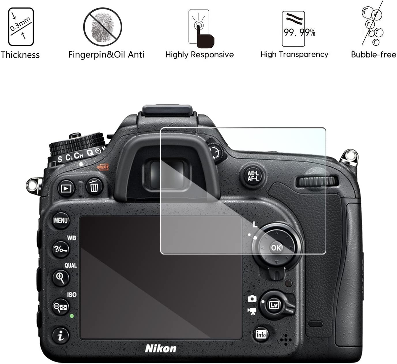 Crystal-Clear Hard-Coated Dirt-Repellent 2X BROTECT HD-Clear Screen Protector for Nikon SB-700