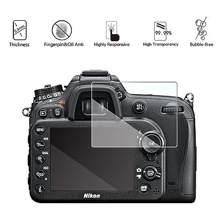 3-Unidades Protectores de Cristal Templado Compatible con Nikon ...