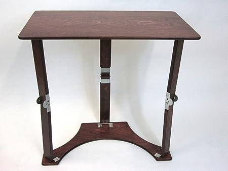 Spiderlegs Folding Laptop Desk Tray Table, 27-Inch, Mahogany