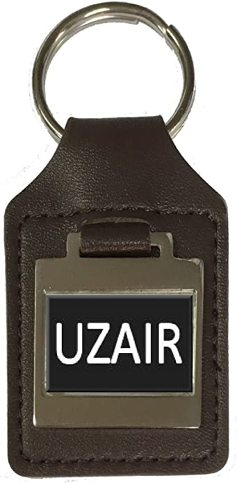 Leather Keyring Birthday Name Optional Engraving Aman