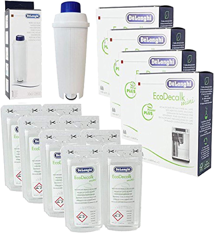 DeLonghi Eco Decalk Natural Cafetera Descalcificador Solución + Filtro de Agua (Pack de 8 x 100 ML – Compatible con EC800, ECAM y BCO400 Series): Amazon.es: Hogar