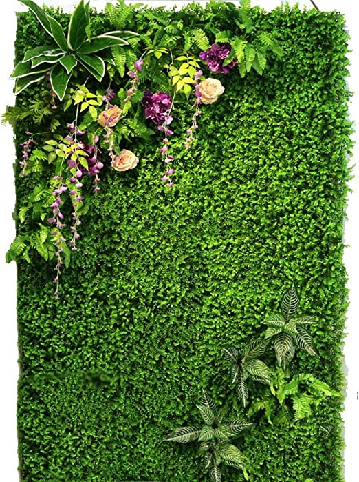 LVZAIXI Setos del Jardín del Patio Trasero Valla De Hoja Falsa con Flor Rosa Decoración De Pared Césped Artificial (Color : B, Size : 100x100cm): Amazon.es: Hogar