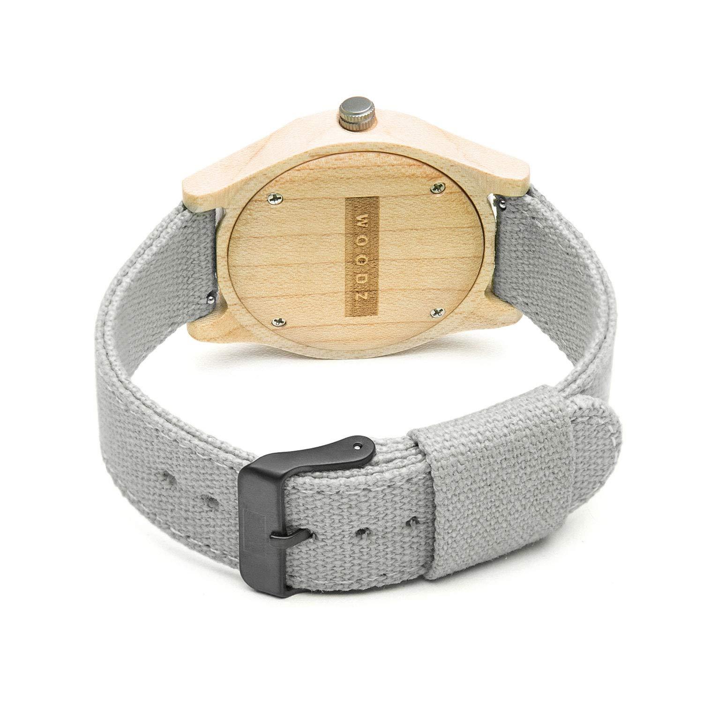 7860f7c60 Relógio de Madeira Woodz Sunrise Gray (Pulseira Cinza): Amazon.com.br:  Amazon Moda
