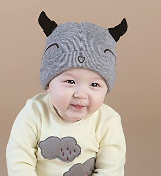 micrkrowen tejer gorro gorra de lana de bebé hilo de algodón, nuez ...