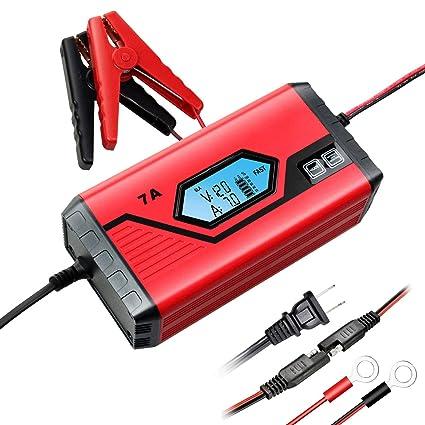 GOOSUO cargador de batería 12 V 7 A/3,5 A portátil de ...