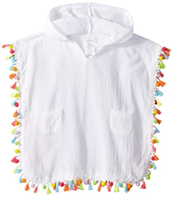 9b851b3f05159 Amazon.com  Mud Pie Girls Hooded Tassel Swimsuit Cover Up  Clothing