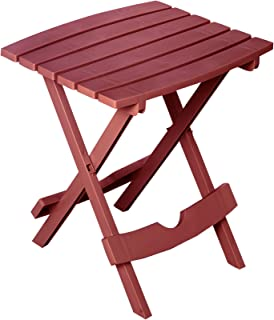 product image for Adams Manufacturing 8500-95-3700 Plastic Quik-Fold Side Table, Merlot