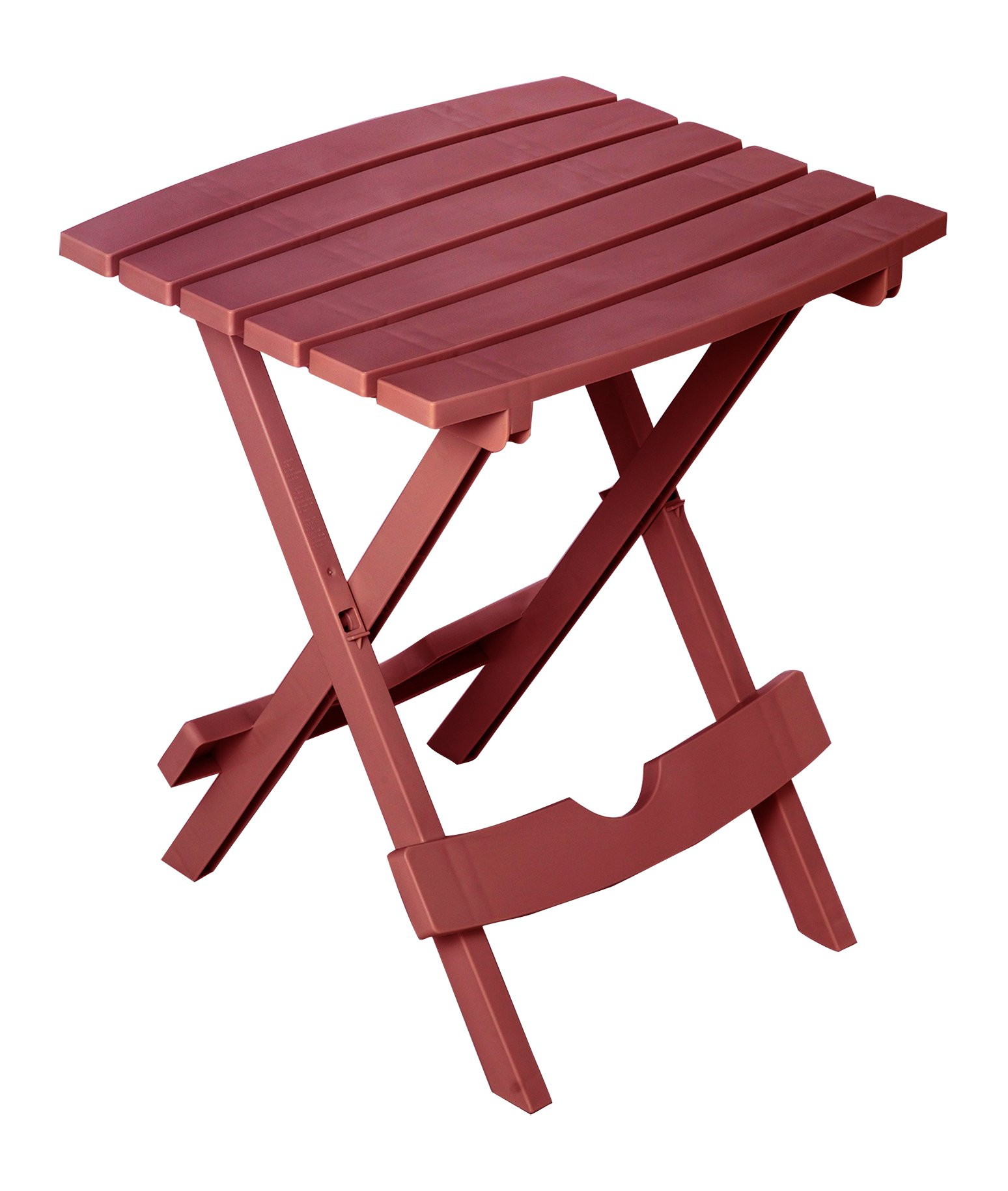 Adams Manufacturing 8500-95-3700 Plastic Quik-Fold Side Table, Merlot by Adams Manufacturing