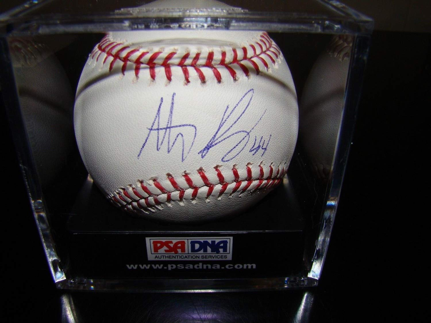 Anthony Rizzo Autographed Signed Baseball RoMLB PSA/DNA Cubs Ticket & Cube