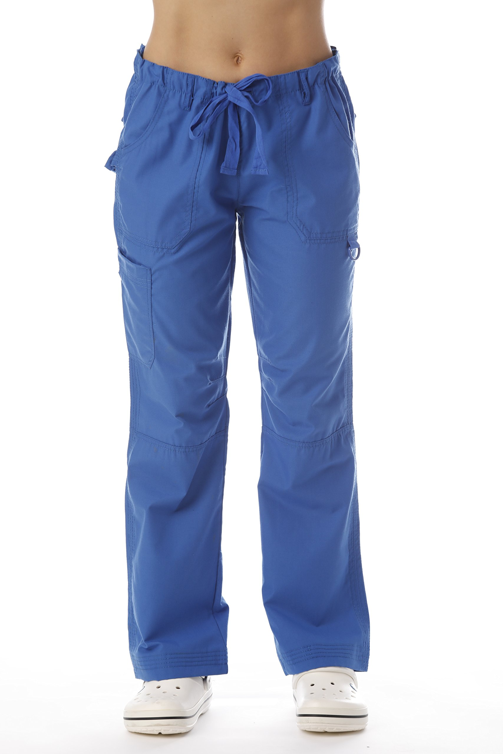 Just Love 24000PROYBLU-XS Women's Utility Scrub Pants Scrubs, Royal Blue Utility, X-Small
