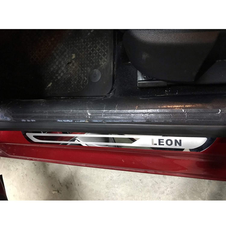 Listones de umbral de puerta de acero inoxidable para Leon LFOTPP 4 unidades