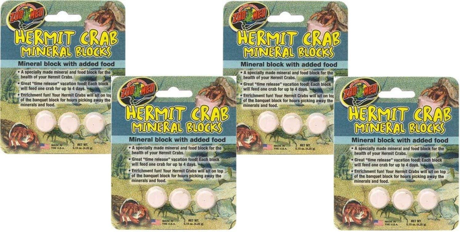 (4 Pack) Zoo Med Laboratories Zoo Hermit Crab Mineral Blocks