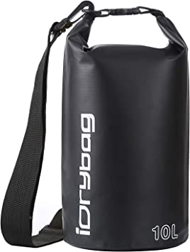 Roll Top Keeps Gear Dry for Kayaking Canoeing Lightweight Dry Bag Storage Water Sports IDRYBAG Clear Waterproof Dry Bag Floating 2L//5L//10L Hiking Rafting Beach Boating Camping Fishing
