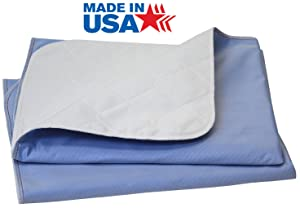 Big Size Washable Bed Pad/XXL Incontinence Underpad - 36 X 72 - Mattress Protector - Blue