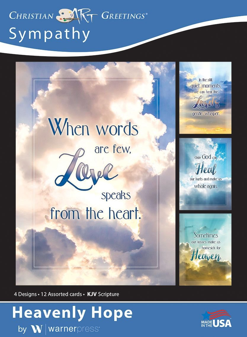 Amazon heavenly hope sympathy greeting cards kjv amazon heavenly hope sympathy greeting cards kjv scripture box of 12 office products kristyandbryce Choice Image
