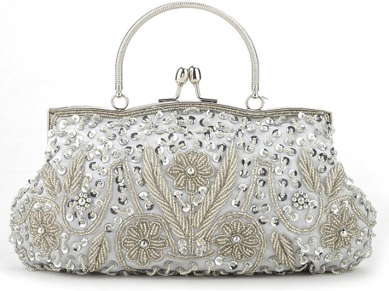 Gift Idea Ru Sweet Beaded Flower Clutch Large Handbag