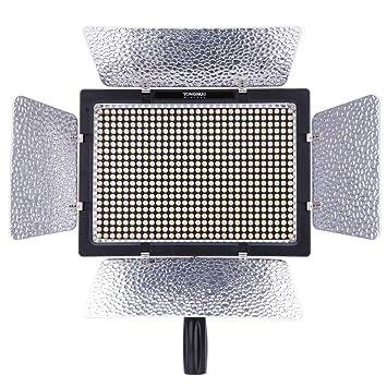 Yongnuo YN-600 600LED Studio Video Licht Lampe Farbtemperatur Einstellbar f/ür Canon Nikon DSLR Camcorder Power Adapter Fern