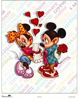 Amazon Com 1art1 Mickey Mouse Poster Photo Wallpaper Donald Duck