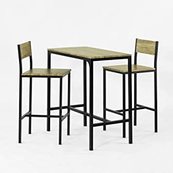 SoBuy OGT03 Ensemble Table De Bar 2 Chaises Set 1