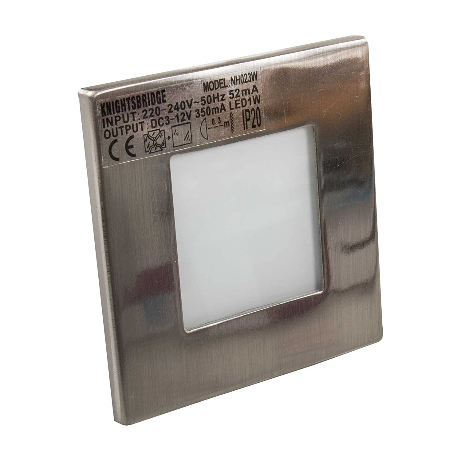 Knightsbridge nh023w stainless steel recessed led wall light knightsbridge nh023w stainless steel recessed led wall light single white amazon lighting aloadofball Image collections