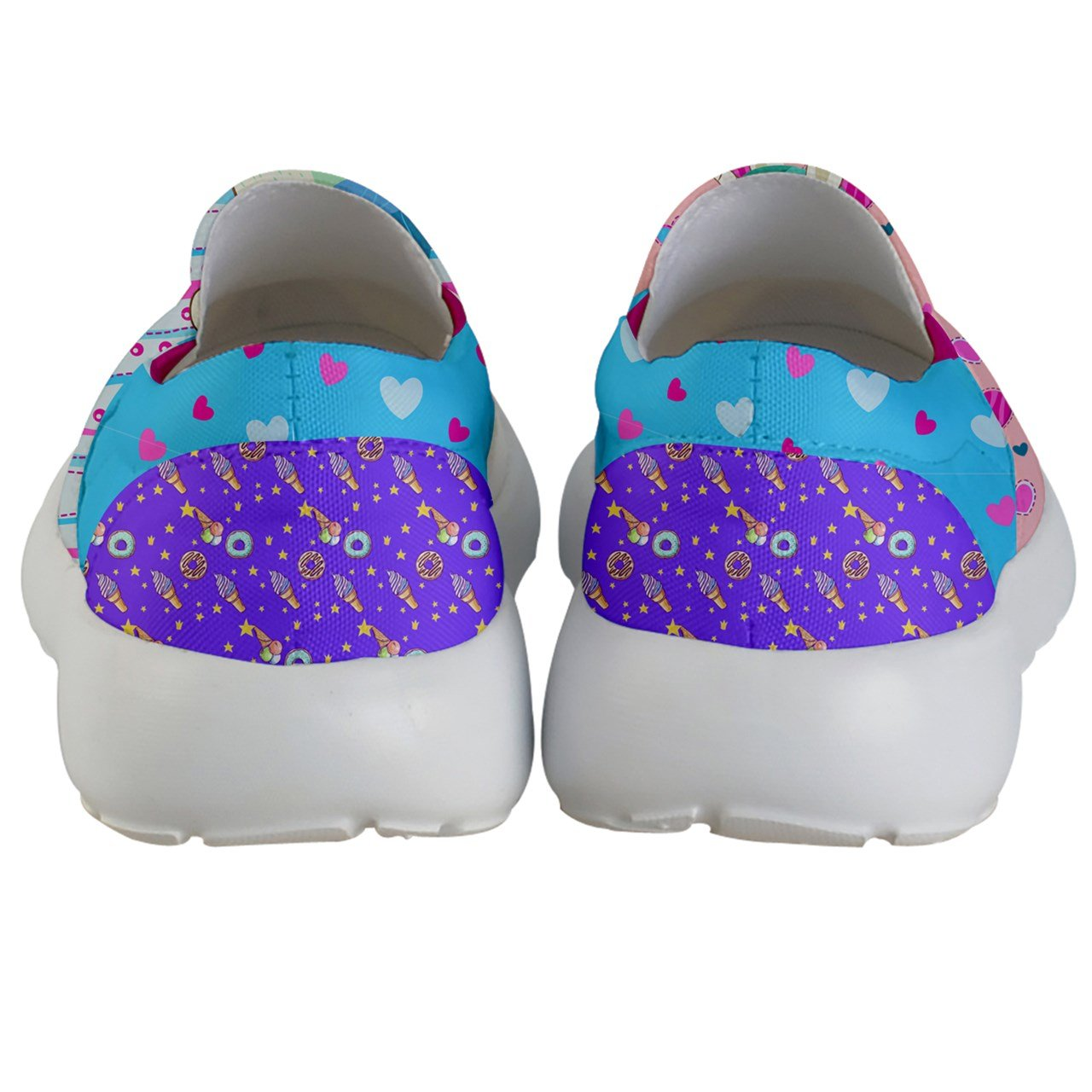 PattyCandy Girls Love Unicorn Prints Lightweight Slip On Shoes - US 2Y