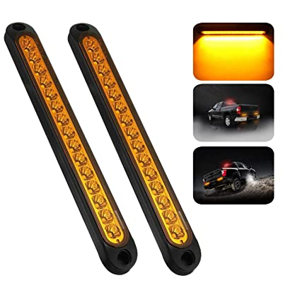 "PSEQT 10"" 15 LED Trailer Identification Light Led Turn Signal Tail Light Bar Strip Truck Rear Side Marker Lights Waterproof¡­: Automotive"