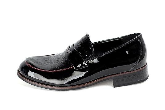 JAS - Mocasines de Charol para hombre Negro negro: Amazon.es: Zapatos y complementos