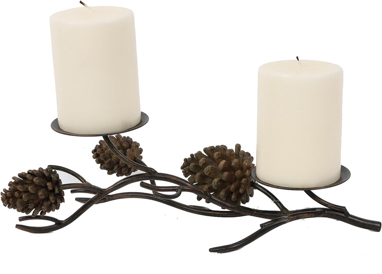 DEI Pine Cone Table Pillar, 2 by 13.5-Inch