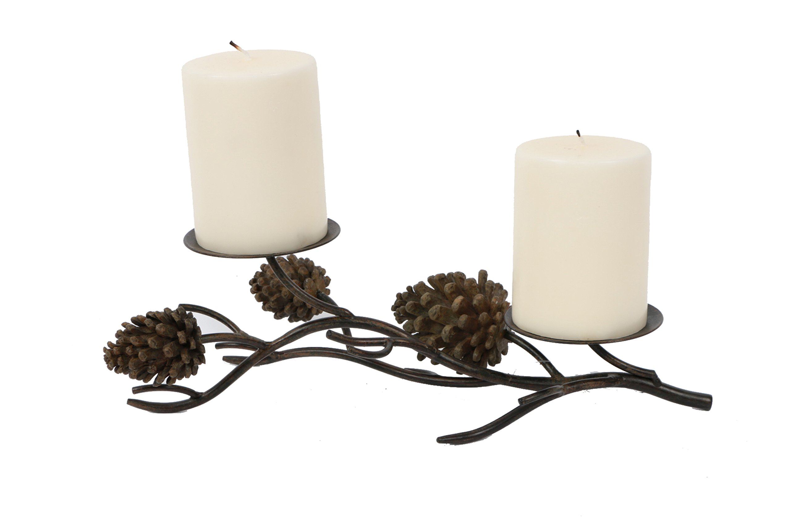 DEI Pine Cone Table Pillar, 2 by 13.5-Inch - Woodland river collection Easy to use and install Pillar candle not included - living-room-decor, living-room, candles - 71wN1GVgMsL -