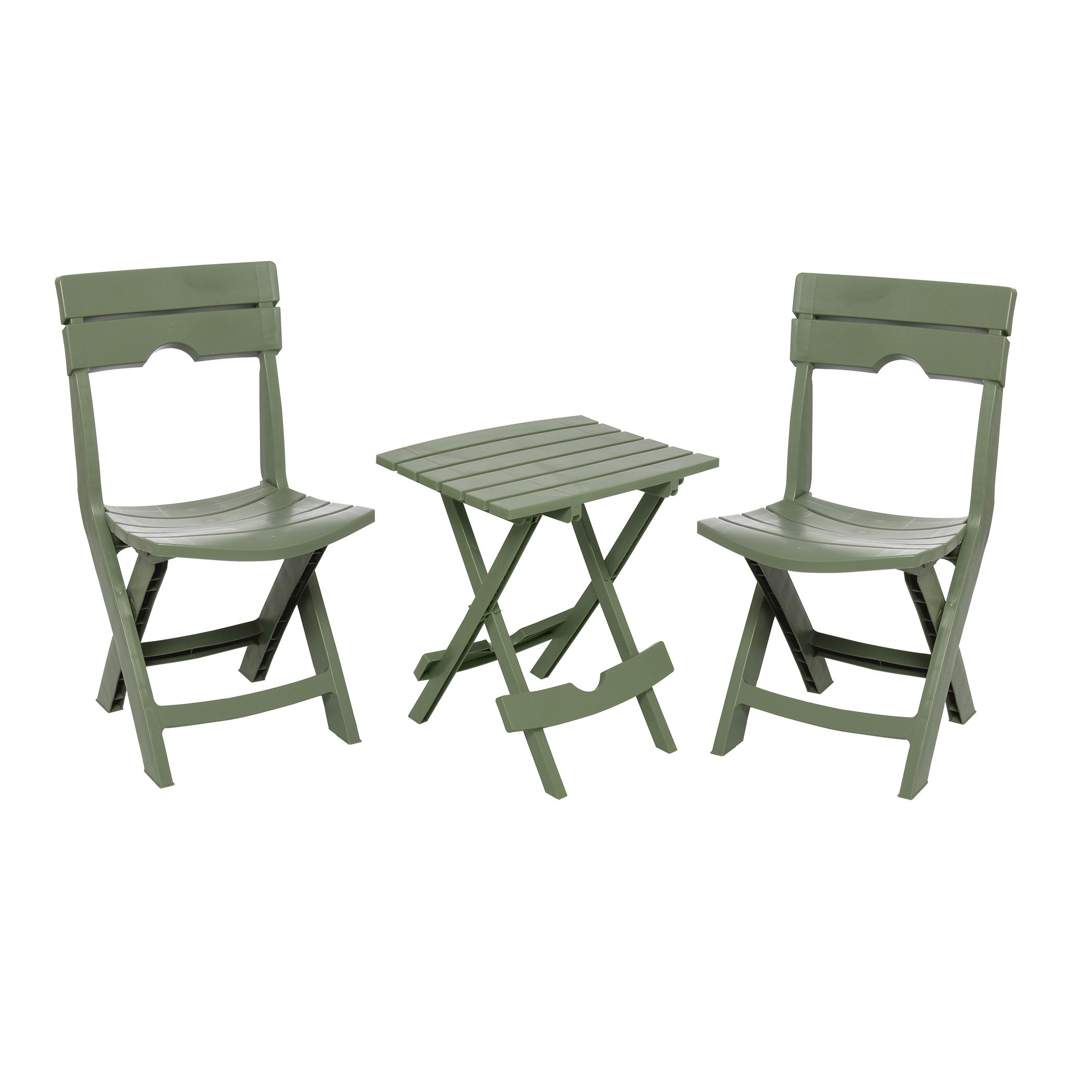 Adams Manufacturing 8595-01-4731 Quik-Fold Conversation Set, Sage