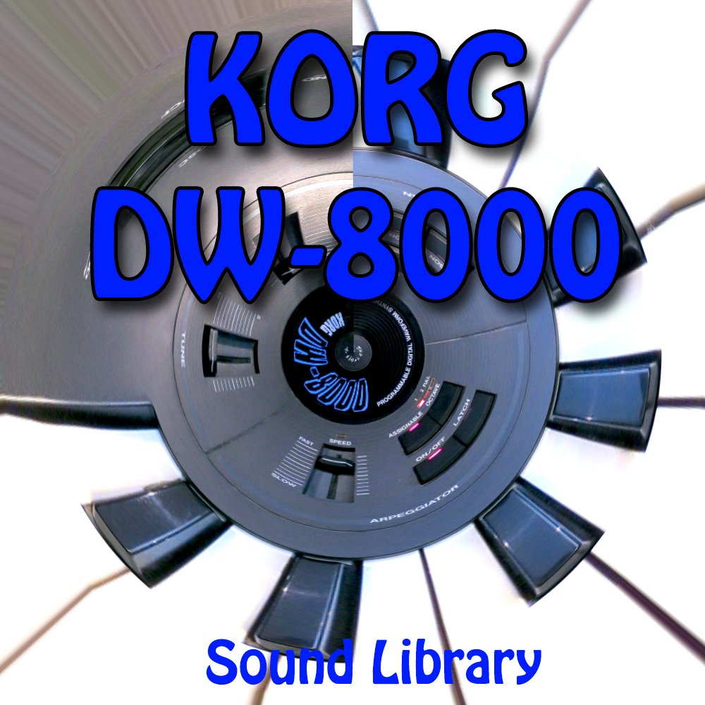 KORG DW-8000 - Large Original Factory & NEW Created Sound Library/Editors on CD or download
