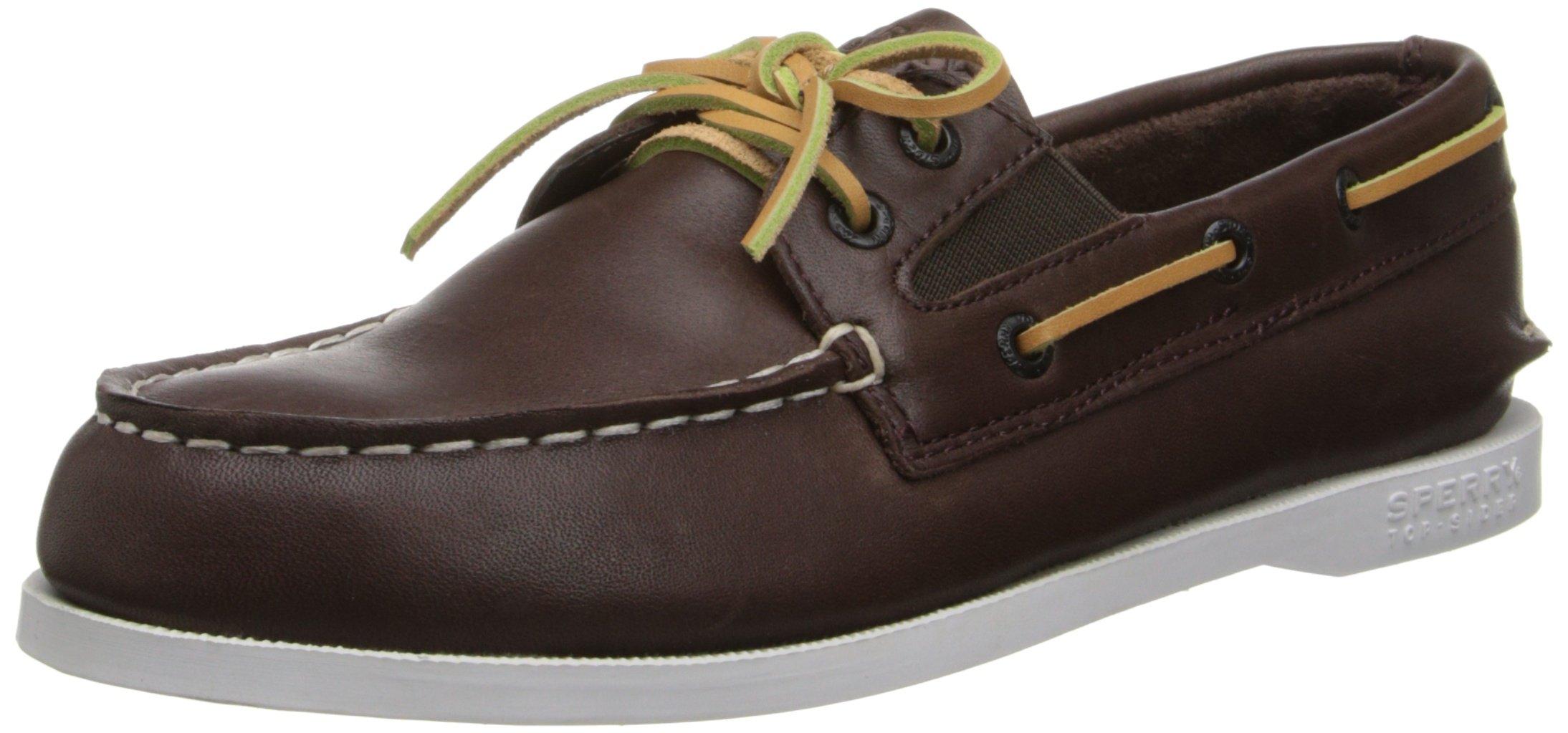 Sperry Authentic Original Slip On Boat Shoe (Toddler/Little Kid/Big Kid),Brown,2.5 M US Little Kid