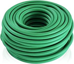 50 Feet / 15m Soft Plant Ties, Garden Ties TPR Flexible Durable Heavy Duty Twist Wire for Support Tomato Branches Vines and Tying Up Cable Wires (Green)