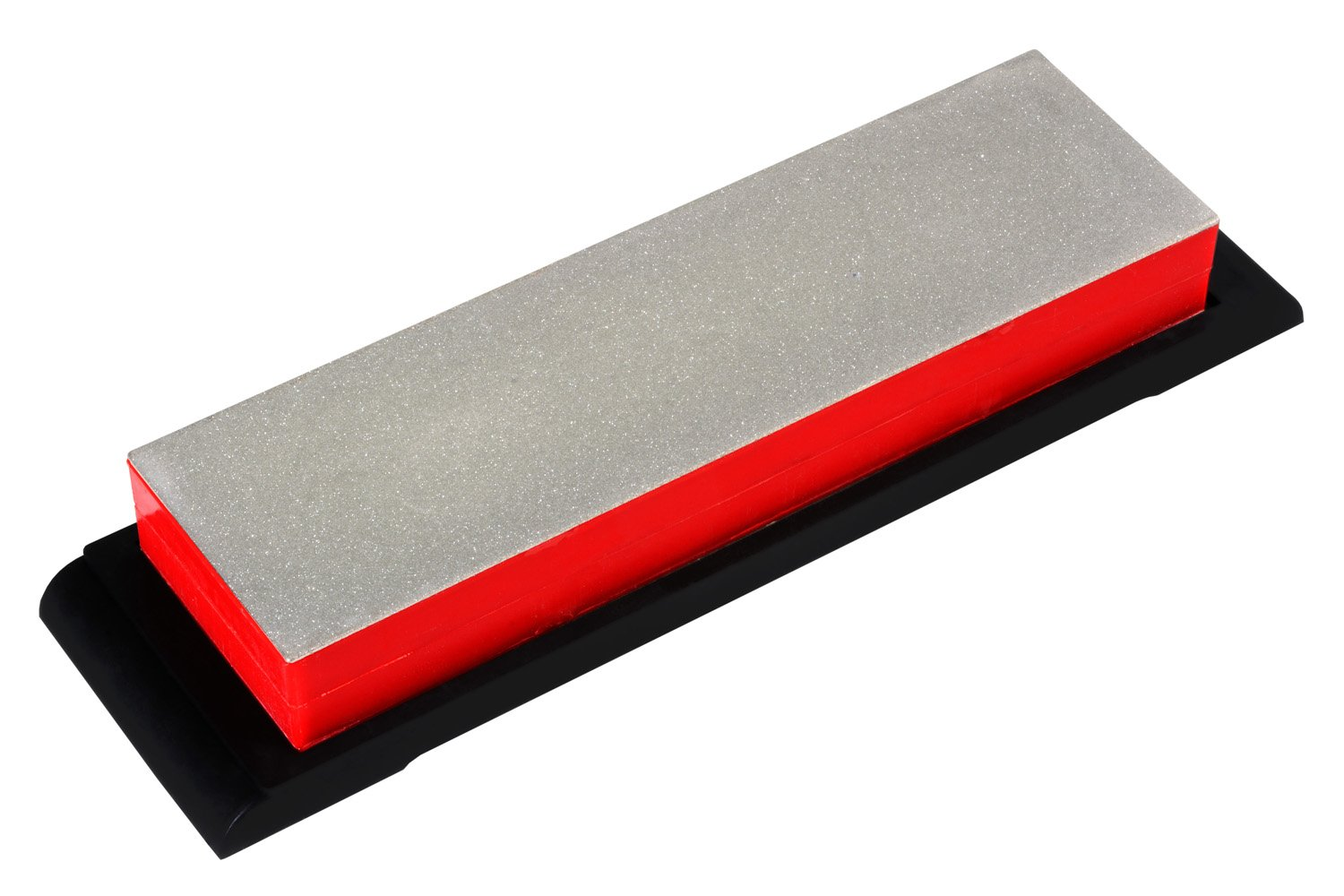 Ansen Tools AS-442 Grit Sharp 8 5//8-Inch Double Sided Diamond Whetstone Sharpener Extra Coarse//Coarse with a Non-Skid Rubber Base