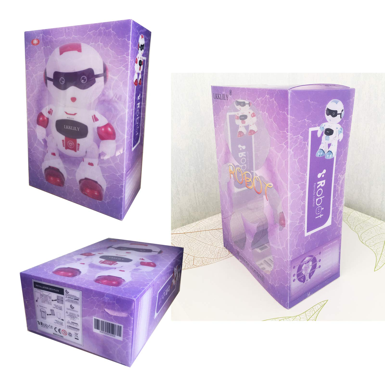 LKKLILY Remote Control Robot with Touch Interaction Music Dance and Lights Remote Toy for Children Kids and Kids Gifts (Red) by LKKLILY (Image #7)