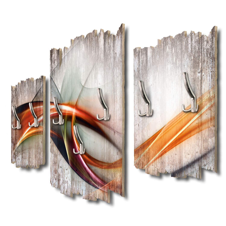 Kreative Feder Moderne Welle Designer Wandgarderobe Flurgarderobe Wandpaneele 95 x 60 cm aus MDF DTGH122