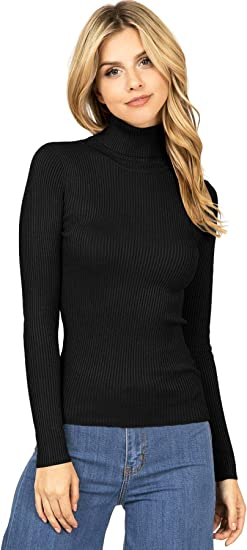 Yours Clothing Women/'s Plus Size Navy Turtleneck Top