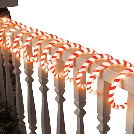 Amazon candy cane rope light christmas house decoration candy cane rope light christmas house decoration aloadofball Image collections