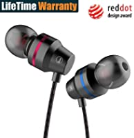 Earphones, In-Ear Earbuds Stereo Headphones High Definition, Tangle Free, Noise Isolation, Heavy Deep Bass for Sport...